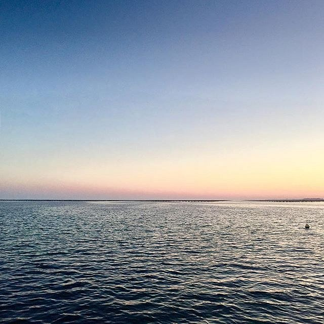 This view never gets old. #mer #sea #sunset #bouzigues #etangdethau