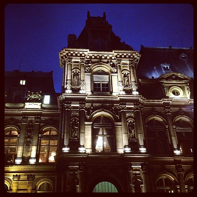 A night at the city hall of Paris #paris #mairiedeparis #hoteldeville
